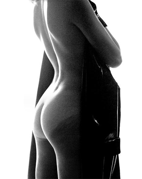 November Girl by Sam Haskins Black Raincoat 05